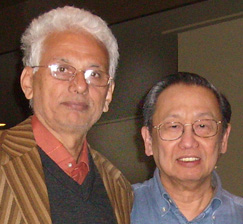 Comrade Gaurav (left) with Filipino revolutonary leader Jose Maria Sison in the The Netherlands, 9/23/08